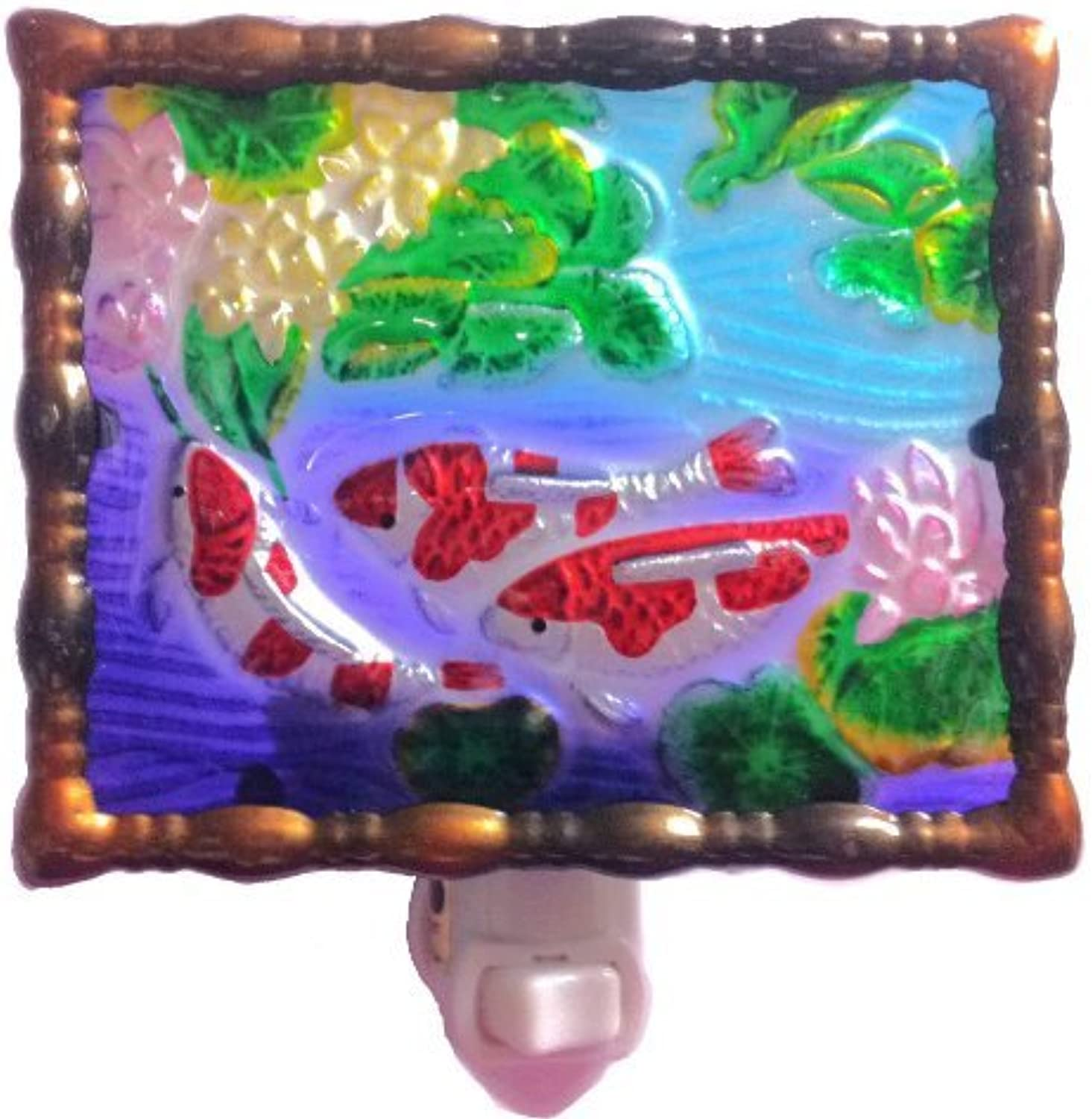 Continental Art Center NL9903 Hand Painted Glass with Night Light
