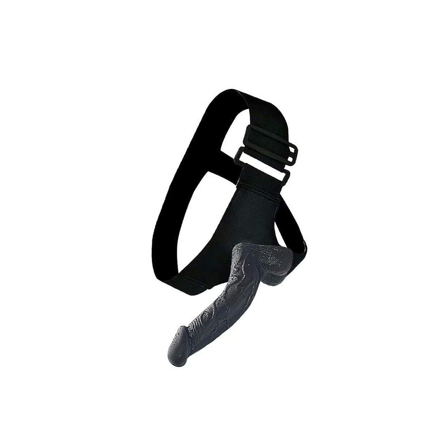 校長呼吸ポジティブユニークパーフェクト、 初心者向けのサクションカップベース付きソフトトイ ブラックPvc +レザーパンツ(l:21cm、W:4.5cm) ダブルリアルなパーソナルボディケアコンフォート感ツール