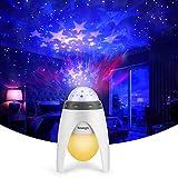 Proyector de luz nocturna de Smalody, proyector de luz con LED multicolor para niños y jóvenes, ideal como decoración para dormitorio de bebé, sala de juegos, cine en casa, luz nocturna ambiente