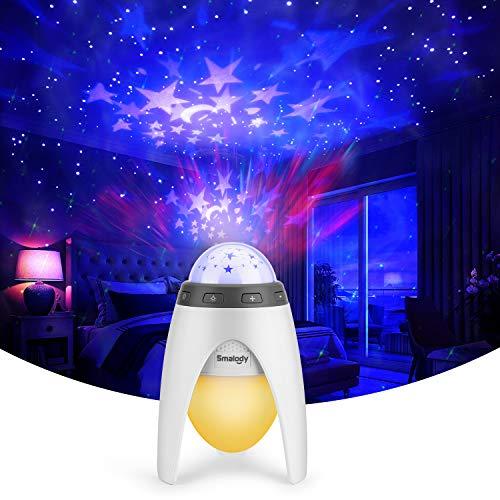 Sternenprojektor-Nachtlicht, Smalody Galaxy Lichtprojektor mit LED, bunt für Kinder und Jugendliche, ideale Dekoration, Geschenk, Baby-Schlafzimmer, Spielzimmer, Heimkino, Nachtlicht-Atmosphäre
