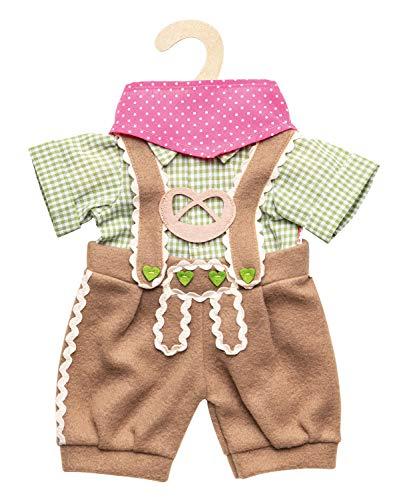 Heless 2114 Trachtenhose mit Hemd, für Puppen, 3-teilig, Größe 35-45 cm