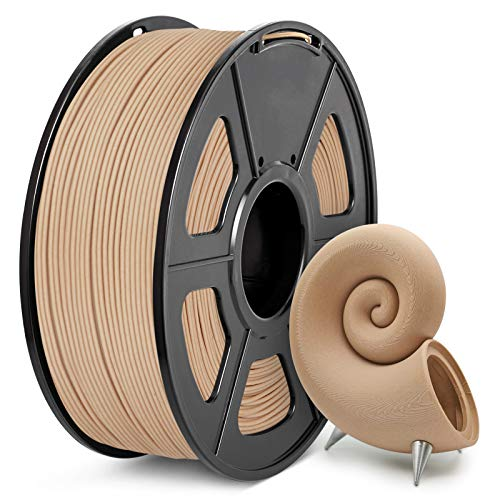 Filamento PLA Madera 1,75 mm, JAYO Filamento PLA Wood Impresora 3D, 1kg Spool, Madera, Precisión Dimensional +/- 0.02mm