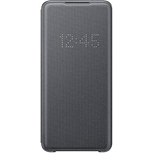 Samsung LED View Smartphone Cover EF-NG988 für Galaxy S20 Ultra Handy-Hülle, LED-Anzeige, Kartenhalterung, grau - 6.9 Zoll
