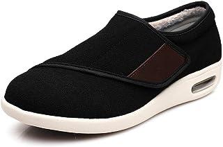 B/H Extra-Larges réglables Unisexe,Automne et Hiver Plus Chaussures Chaudes en Velours, Plus Engrais Velcro Chaussures ant...