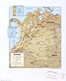 Historic Map, LLC 2008 Landkarte Kolumbien, Größe 50,8 x