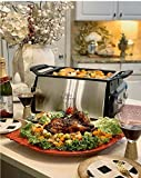 Electric Indoor Grill with Removable Non-Stick Plate, Infrared Heating Smokeless Technolog...