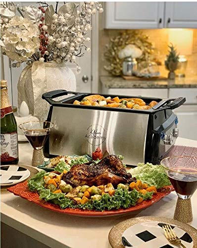 Kitchen Academy Electric Indoor Grill with Removable Non-Stick Plate, Infrared Heating Smokeless Technology BBQ Grill Black