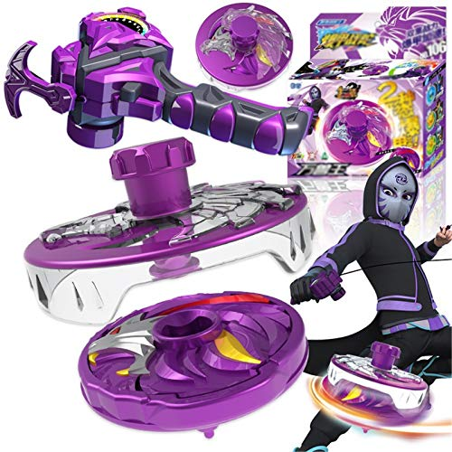 WeiX Peonzas,Lanzador Beyblade,Fighting Top Blade púrpura Evolution Launcher gyro Top Novedad Spinning Toy,Gift Regalo de cumpleaños para niño