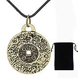 Auccrtya 2021 Nuevo Collar de Amuleto de Dinero Feng Shui, Colgante de talismán, atrae bendiciones, Salud, Suerte y protección, joyería de Estilo Vintage para Hombres, Mujeres, Regalos