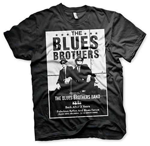 Blues Brothers Offizielles Lizenzprodukt The Poster groß & hoch (3XL, 4XL, 5XL) T-Shirt (Schwarz), 4X-Large