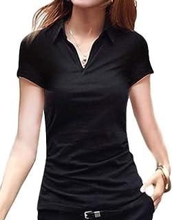 [セノーテリコ] ポロシャツ レディース 半袖 ストレッチ 襟付き オフィスカジュアル ベーシック Yシャツ きれいめ 夏