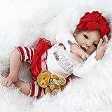 リボーン人形の女の子のリアルな生まれ変わっ年齢3+クリスマスのために赤ちゃんの美しい新生児人形現実の赤ちゃんの人形手作りのソフトシリコンビニール