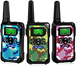 Toys for 3-12 Year Old Boys Girls, Range Up to 3 Miles 3 Pack Walkie Talkies for Kids Gifts for 3-12 Year Old Boys Girls Birthday Christmas Present Hk888 BPG
