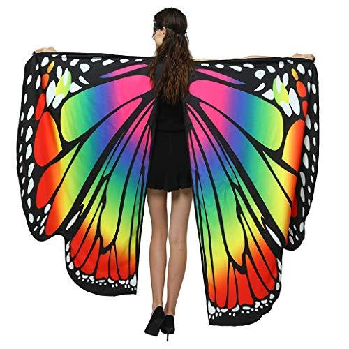 Momoxi Damen Kostüm Schmetterling Strandtuch Schöne Schmetterlingsflügel für Cosplay Party Halloween Weihnachten Fashing uswbunt