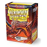 Dragon Shield 100 Count Standard Size Matte Deck Protector Sleeves (Matte Red)