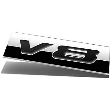 LIUYE 3D Metal Zinc Alloy V8 Badge V8 Engine Sign V8 Truck Car Badge Emblem Sticker V8-Silver