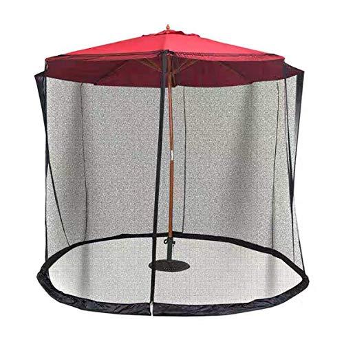 MFLASMF Paraguas de jardín al aire libre para tu sombrilla en un cenador al aire libre para jardín, mosquitero, sombrilla para patio, pantalla con cremallera para puerta