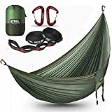 ETROL Hammock Camping Double Lightweight Parachute Portable Hammocks for Travel, Indoor, Outdoor Backpacking, Beach Includes
