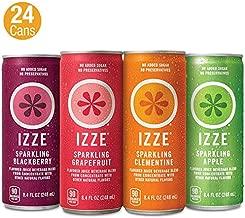 IZZE Sparkling Juice, 4 Flavor Variety Pack, 8.4 Fl Oz (Pack of 24)