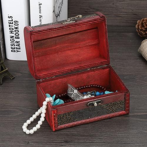 Gold Trauben Schmuck Aufbewahrungsbox, Vintage quadratische Schmuck Spind, handgefertigte dekorative Holzschatulle für die Aufbewahrung von Schmuck