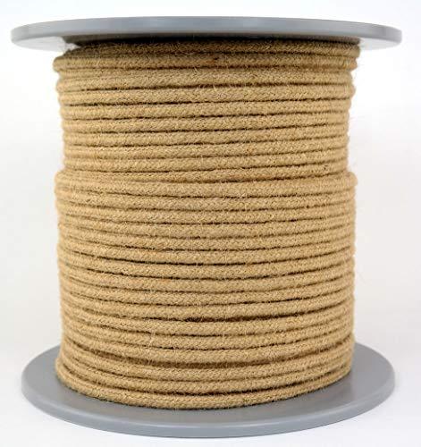 Juteseil/Seil aus Jute/Jutetau geflochten Natur Durchmesser ca.6mm - Länge: 100 Meter - hergestellt aus naturbelassenem Jutegarn, biologisch abbaubar und umweltfreundlich