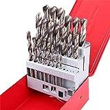 WEI-LUONG Screw 25Pcs 1-13mm Twist Drill Bit Set HSS Speed Steel Wood Drilling Kit Metal Metric High Power Tool Drill