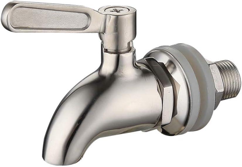 JANKE Beverage Dispenser Replacement Spigot,Oak Leaf Stainless Steel Spigot Polished Finished, Dispenser Replacement Faucet(16mm)