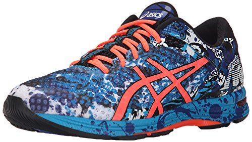 ASICS Men's GEL Noosa Tri 11 Running Shoe, Island Blue/Flash Coral/Black, 9 M US
