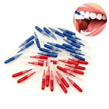 LKE 50pcs/Pack Interdental Brush Tooth Flossing Head Oral Dental Hygiene Brush Tooth Cleaning Tool Tooth Cleaning Tool