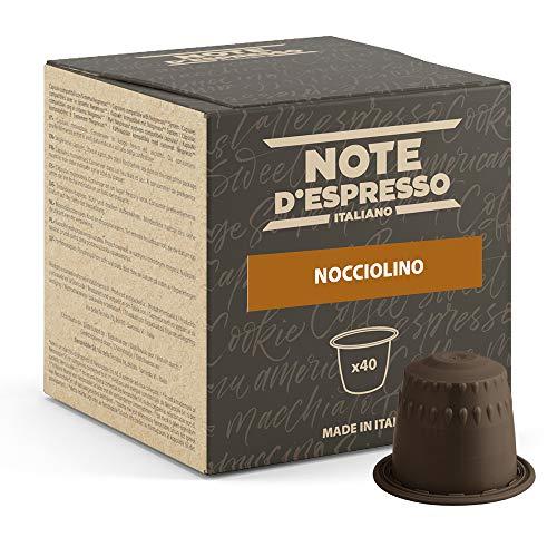 Note d'Espresso - Cápsulas de Bebida Instantánea de Avellana, 40 unidades de 7g, Total: 280 g