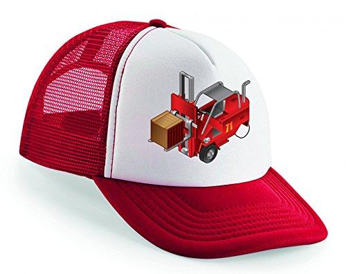 Snapback Gabelstapler- LKW- Auto- Aufzug- Fahrzeug- Fabrik- Verkehr- LAGERUNG- Arbeit- FRACHT- Industrie Unisex Baseballmütze Trucker Mützen Base Caps