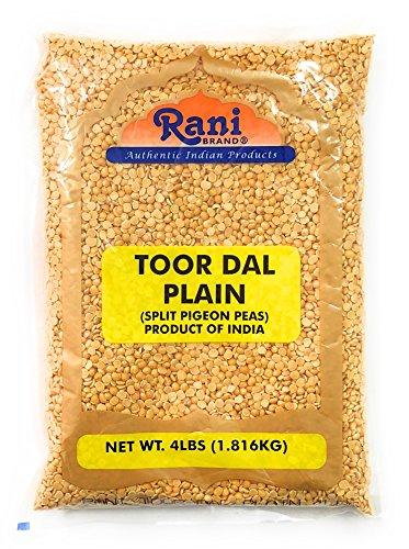 Rani Toor Dal (Split Pigeon Peas) 4lb (64oz) ~ All Natural | Gluten Friendly | NON-GMO | Vegan | Indian Origin