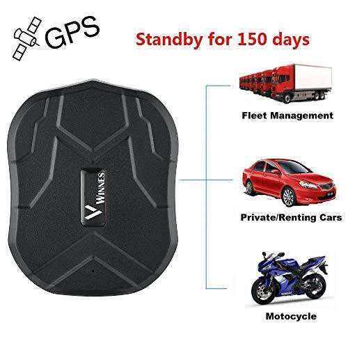 Winnes GPS Tracker 5 Monate Standby-Zeit Reale Positionierung Mini GPS für Auto / Motorrad Wasserdicht Magnet Stark GSM Genauigkeit innerhalb von 5 Meter Diebstahlsicherung, APP kostenlos TK905B