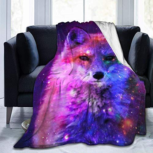 Meloci Galaxy Fox Picknickdecke Ultraweiche Micro Fleece Decke Lustig