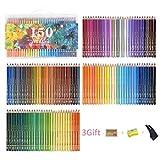 150 matite colorate solubili in acqua set di matite for acquerelli in legno matite colorate
