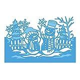 Moldes navideños con forma de muñeco de nieve para hacer tarjetas, troqueles de metal para álbumes de recortes, papel de manualidades, álbumes de recortes, accesorios de repujado