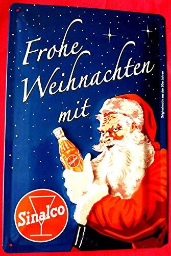 Tin Sign Blechschild 20x30 cm SINALCO Limonade Weihnachten Santa Claus 3 D geprägt Lizenziertes Sammlerstück Haus + Garten Bar Kneipe Getränk