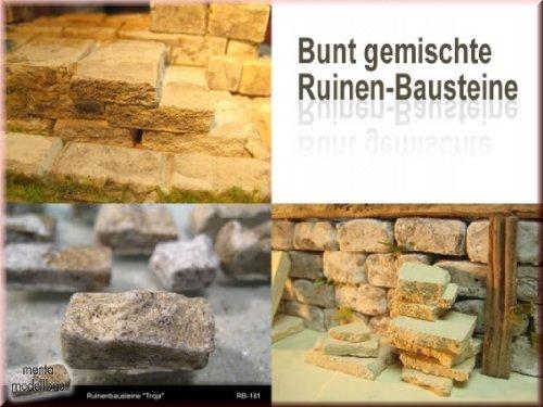 200 Gramm bunt gemischte Ruinenbausteine