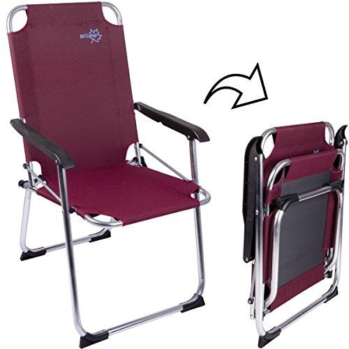 Siehe Beschreibung Camping Klapp-Stuhl Copa Rio Alu Rubin, bis 100kg, 600D-Gewebe: Camping Stuhl Aluminium Klappstuhl Campingzubehör Faltstuhl