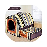 New Warm Dog House Print Stars Kennel Mat for Pet Puppy Foldable Cat Sleeping Bed cama para cachorro,5,L