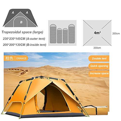 ZFLL outdoor tent 3-4 personen volledig automatische tent camping outdoor tent lente snelheid gemakkelijk open kamp tenten familie luifel tuin bivy kamp