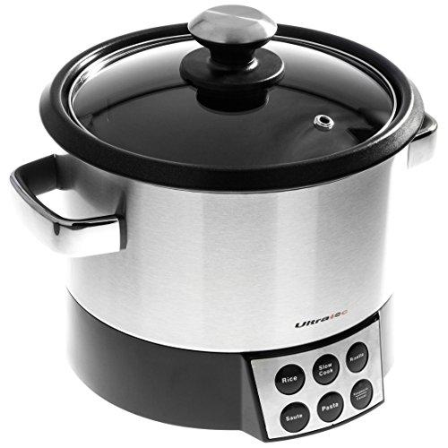 Ultratec Robot Risorette 6 in 1 con Sbattitore per Saltare, Cucinare in Modo Delicato e Riscaldare Riso, Risotto, Pasta
