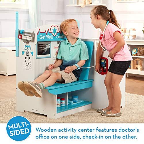 Melissa & Doug Wooden Get Well Doctor Activity Center - Waiting Room, Exam Room, Check-In Area