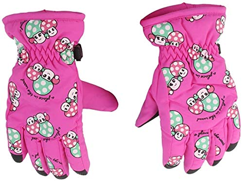 hsj LF- Toy EIN Paar Winterthermal Skihandschuh Breath for Kind 2 □ 4 Jahre, Farbe:?? Rot Lernen (Color : Pink)
