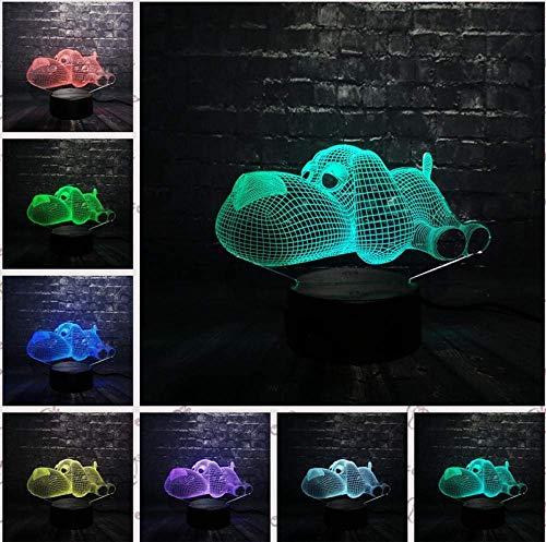 3D-effect 7 kleurverandering hond dier Franse bulldog cartoon robot hond camera decor mod kid nachtlampje geschenk