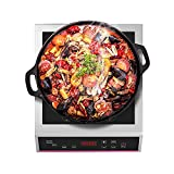 Placa Inducción, 3500W Placa De Inducción Portátil 10 Niveles De Potencia Control Táctil Cronometraje Cocina De Inducción Eléctrica Panel De Cristal Negro