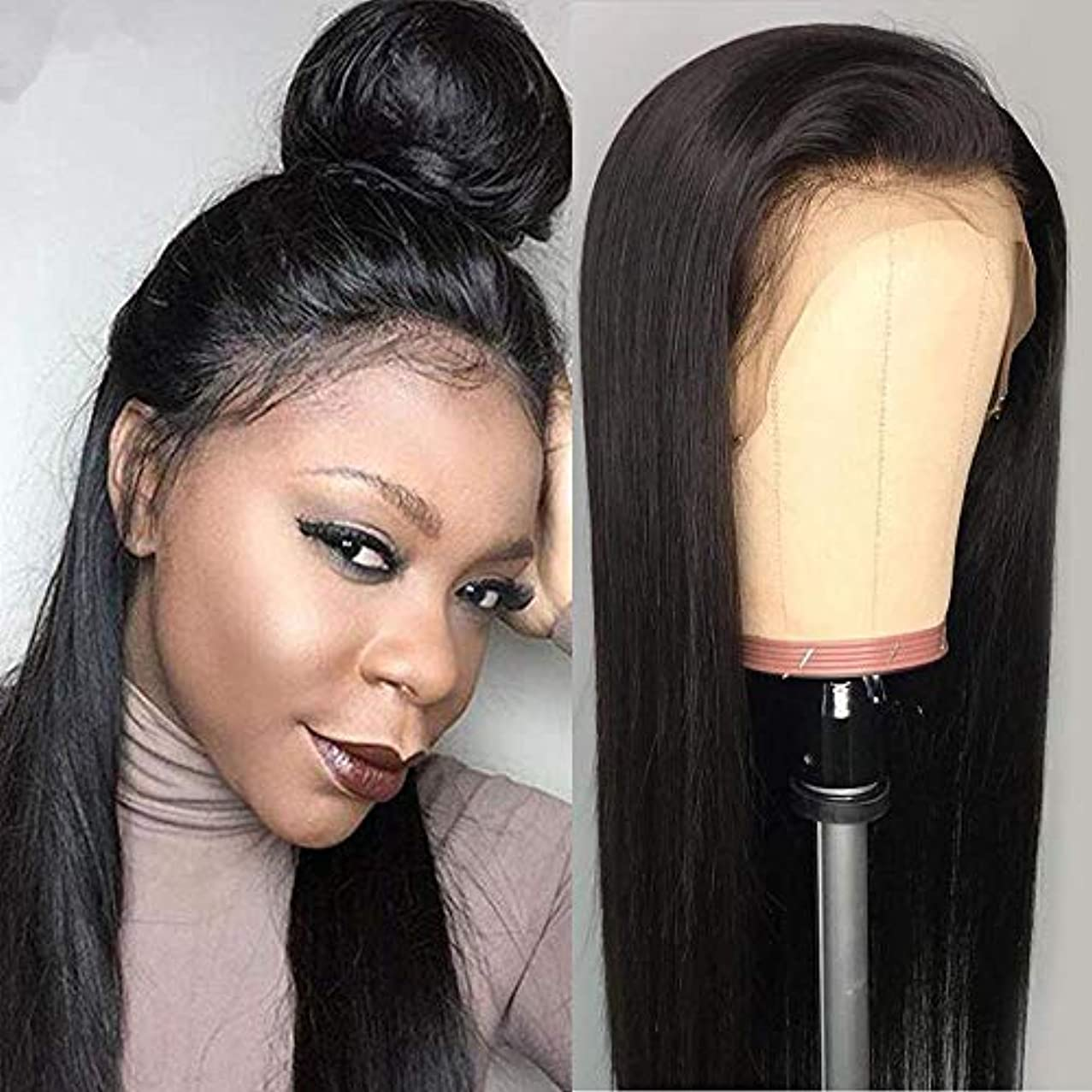 Luduna Lace Front Wigs Brazilian Virgin Human Hair Wigs for Black Women Pre Plucked Glueless Straight Human Hair Wigs With Baby Hair 130% Density (10
