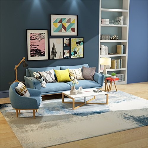 Moquettes tapis et sous-tapis Designer Carpet Nordic Modern Simplicity Abstract Personnalité Geometry Rug Living Room Table basse Canapé lit Tapis de chevet avec 7 tailles et gris