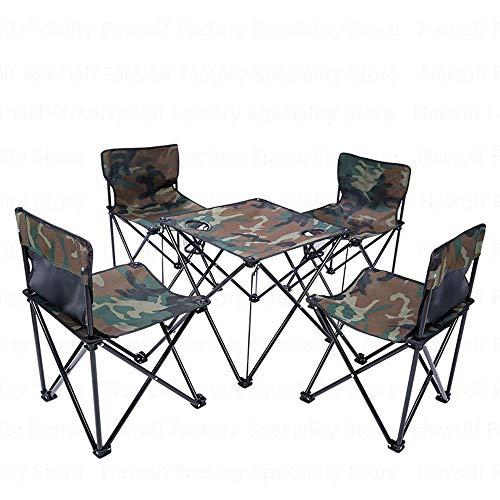 LHQ-HQ Acampar al aire libre mesas plegables portátiles Sillas 4 Asientos 1 Sillas Mesa de mesa Mesa de jardín Sillas de pesca picnic al aire libre barbacoa al aire libre camping mesas plegables portá