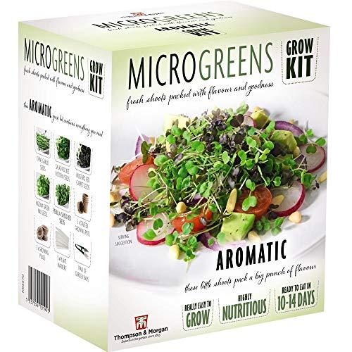 Microgreens Aromatic Seed Grow Kit Hardy Annual Seeds Easy to Grow Your Own at Home 1 x Seed Grow...